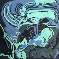 LA NUIT DU CHASSEUR Acrylique sur papier, 30 x 39 cm, 2019