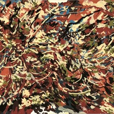 HAUTES RIVES Acrylique sur papier 26 x 87,5 cm 2019